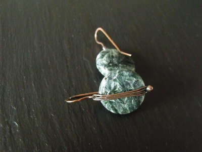 Seraphanite Copper Earrings