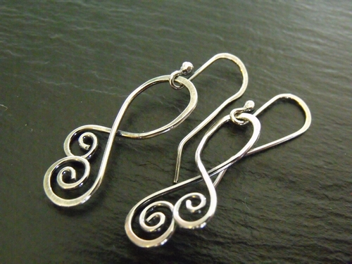 Simple Swirl Sterling Earrings
