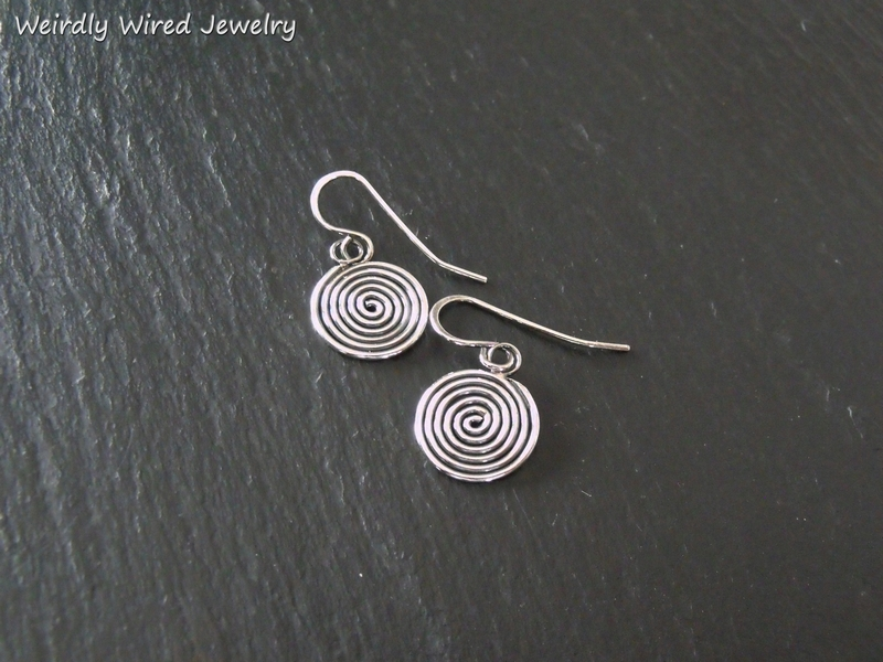 Simply Sterling Spiral Earrings