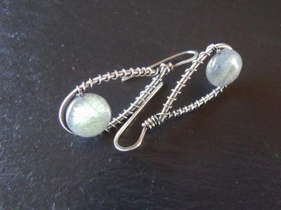 Labradorite Sterling Drop Earrings