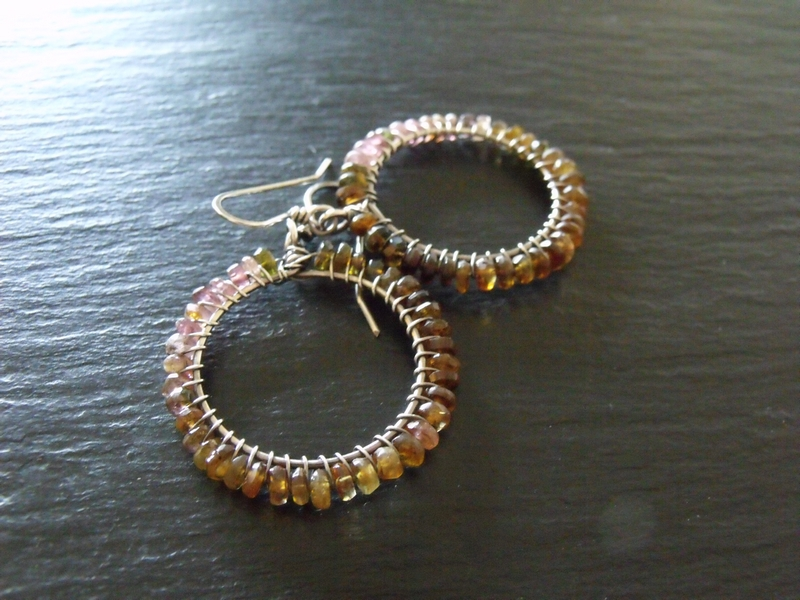 Sterling Tourmaline Hoops-Molly