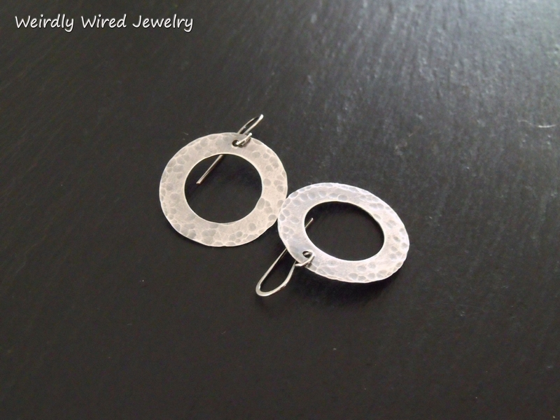 Sterling Washer Hoops