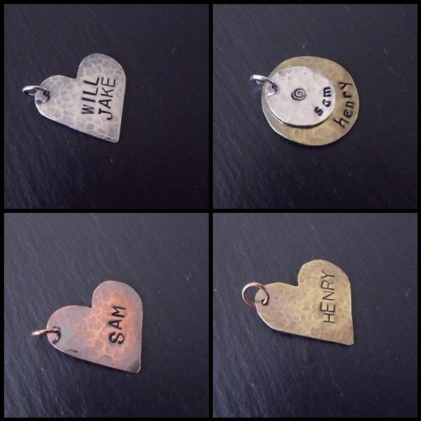 Stamped Hearts/Layered Circles Mosaic