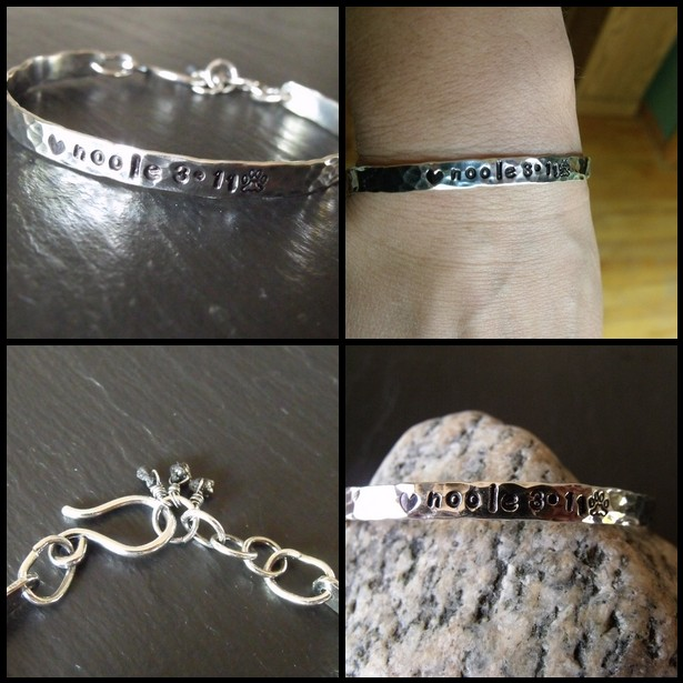 Stamped Sterling Cuff - Sarah