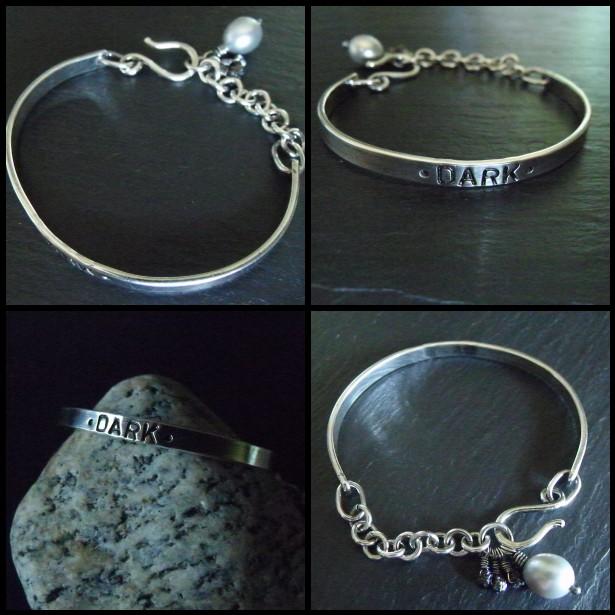 Stamped Cuff Bracelet-DARK