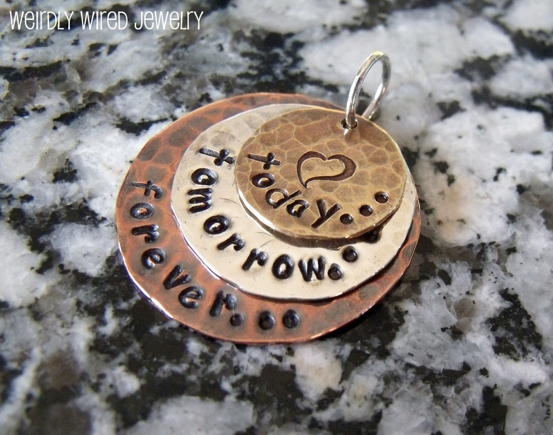 Mixed Metal Stamped Charm-Toth