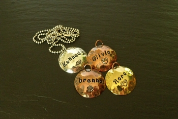 Four Stamped Charms