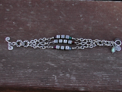 Wire Components Name Bracelet