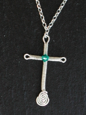 Swarovski Birthstone Cross Necklace
