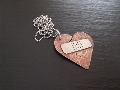 Broken Heart & Band Aid's Pendant