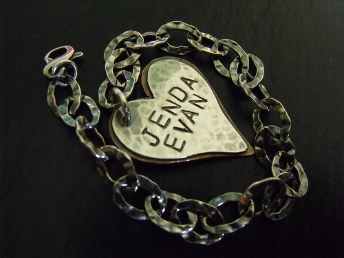Stamped Heart Charm