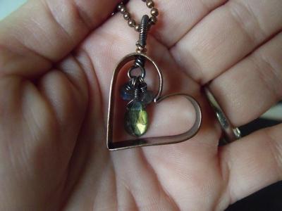 Jordan's Hollow Copper Heart w/Labradorite
