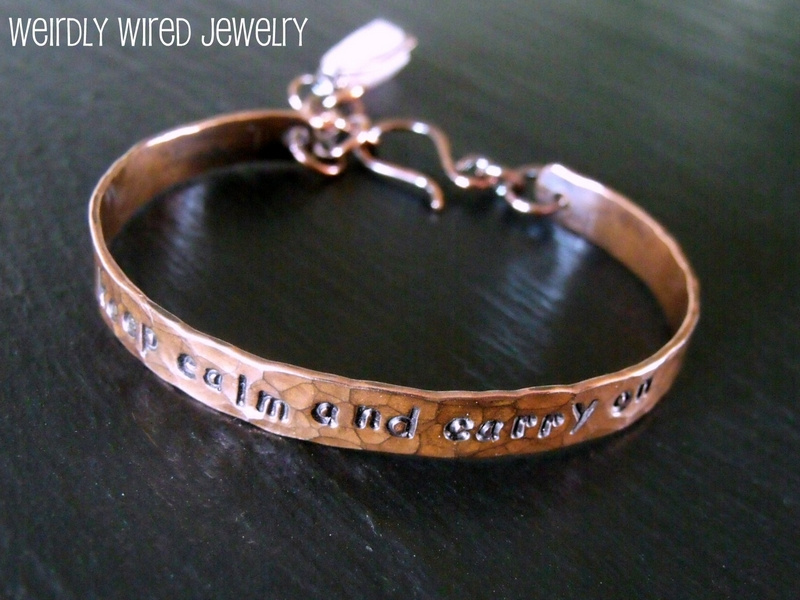 Keep Calm and Carry On Copper Bracelet