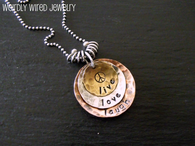 Three Layer Stamped Pendant