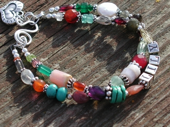 Mixed Gemstone Mother's Bracelet