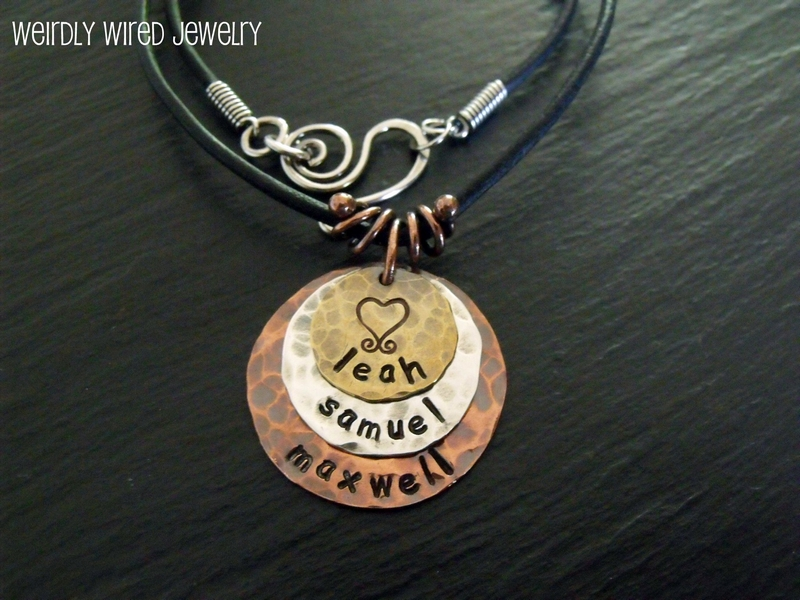 Stamped Mother's Pendant