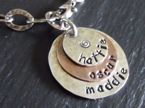 3 Disc Stamped Name Bracelet