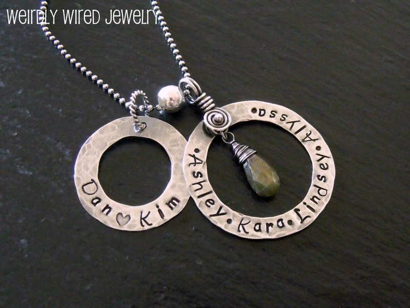 Stamped Sterling Washer's Necklace-Kim