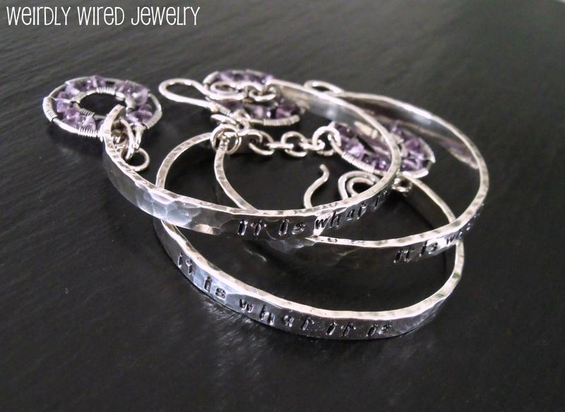 Stamped Sterling Silver Bracelets
