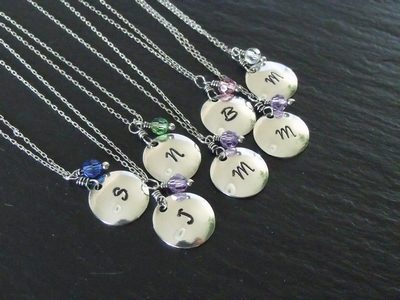 Sterling Stamped Brides Maids Necklaces