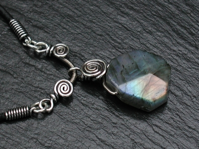 Triangle Labradorite Necklace