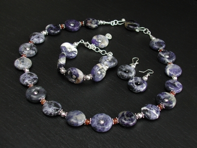 Sodalite and Hessonite Set