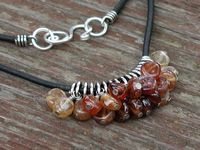 Hessonite Sterling Coil Necklace