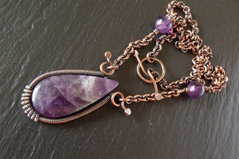 Amethyst Mixed Metal Necklace