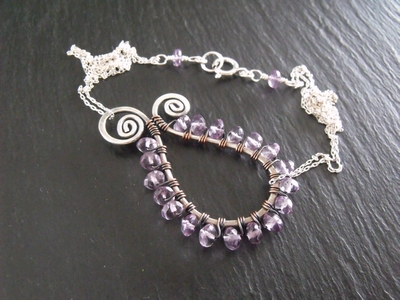 Amethyst Paisley Necklace