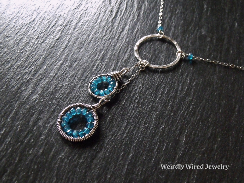 Apatite Circles Sterling Necklace