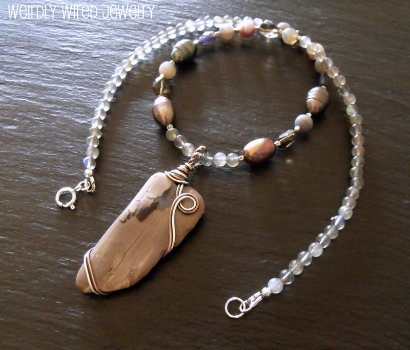 Blues and Browns Necklace