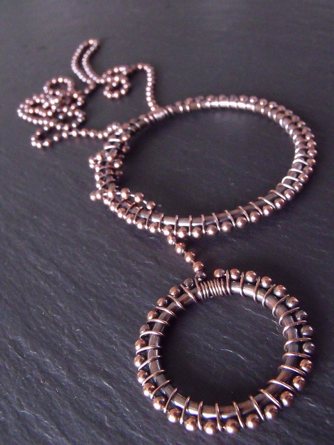 Copper Ball Chain Lariat