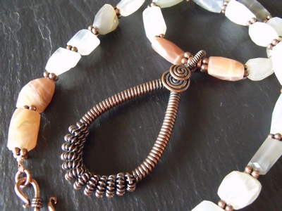 MultiMoonstone Copper Necklace