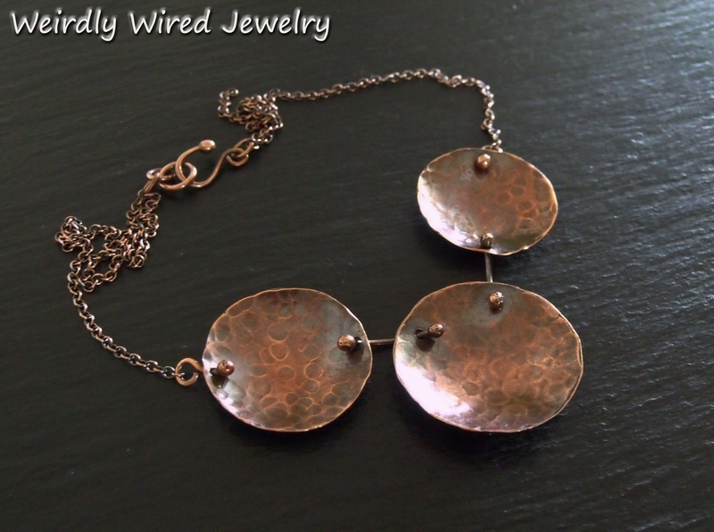 Copper Disc Dapped Necklace