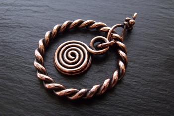 Copper Keychain Pendant