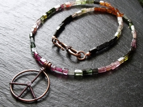Copper Peace Tourmaline Necklace