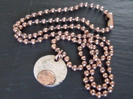 Copper Spot Necklace