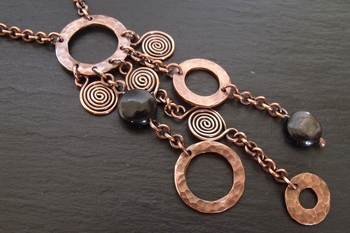 Copper Swirl Hypersthene Necklace