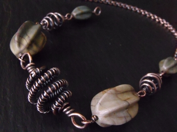 Dry Creek Jasper and Copper Necklace