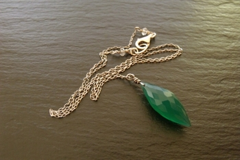 Faceted Green Onyx Necklace