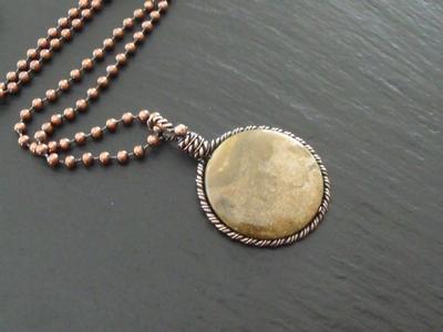 Itasy Jasper Copper Pendant
