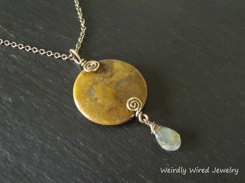 Itasy Jasper, Labradorite and Brass