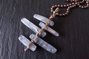 Kyanite Copper and Brass Pendant