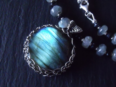 Labradorite Cab Necklace