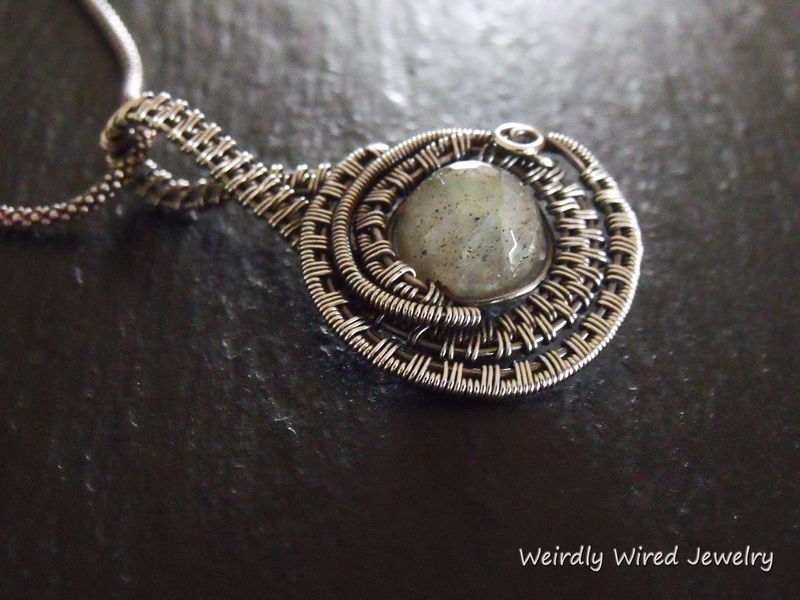 Labradorite Sterling Bypass Pendant