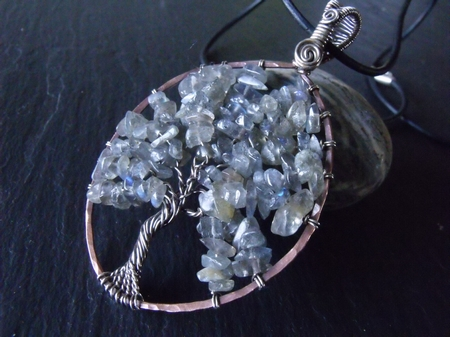 Mixed Metal Labradorite Tree