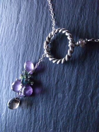 Sterling Lariat in Purple
