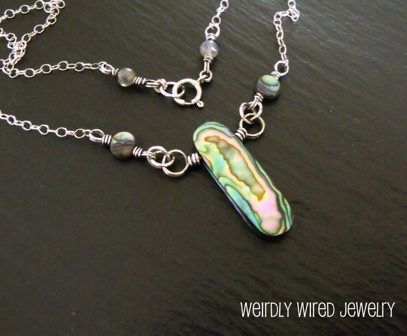 Paua and Sterling Necklace