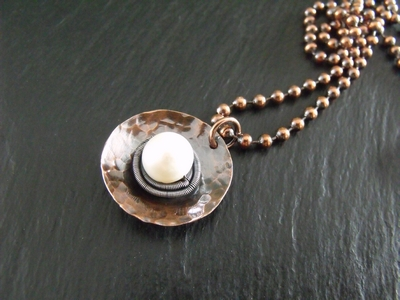 Pearl Cup Necklace