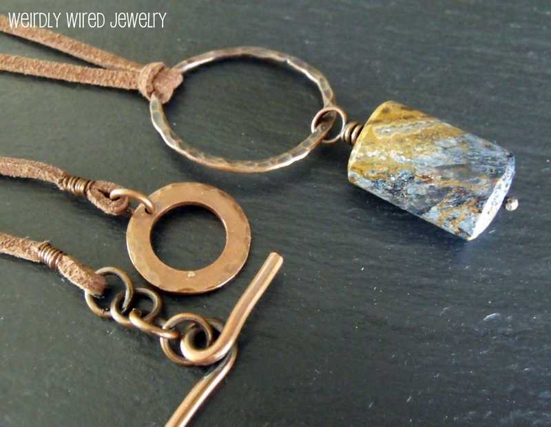 Pietersite and Copper Necklace